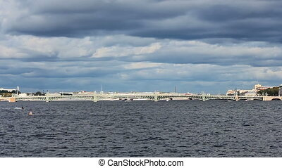 Trinity Bridge across the Neva River