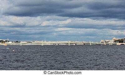 Trinity Bridge across the Neva River