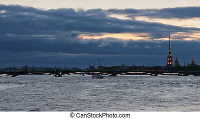 Trinity Bridge at dusk