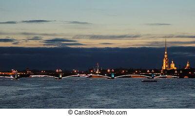 Trinity Bridge at night