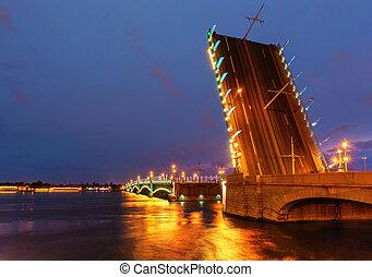 Trinity bridge in Saint Petersburg