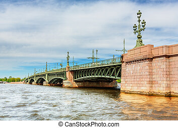 Trinity Bridge in Saint Petersburg (Russia)