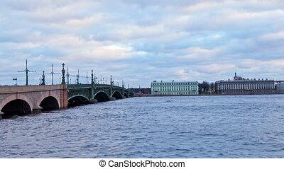 Trinity Bridge. St. Petersburg. Russia