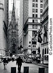 Trinity Church in Manhattan New York - NY - OCT 09 :Trinity...