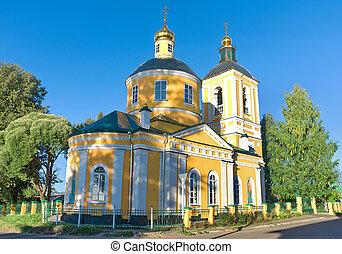 Trinity Church in the city Bologoe. Russia.