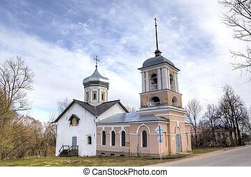Trinity Church in the Yamskaya Sloboda. Veliky Novgorod,...