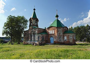 Trinity Church in village Shilovka of Sverdlovsk area in Russia