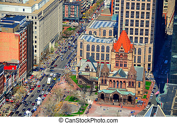 Trinity Church with Boston traffic - Trinity Church in ...