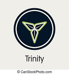 Trinity Cryptocurrency. Vector TTY Web Icon. - Trinity -...