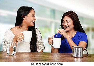 trinken, friends, bohnenkaffee
