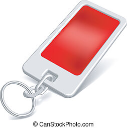 Trinket red - Vector red trinket for inscription isolated on...