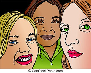 trio of friends