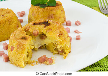 trio of souffl? potatoes - Creamy potato souffle stuffed...