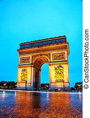 triomphe, パリ, de, 弧, l'etoile