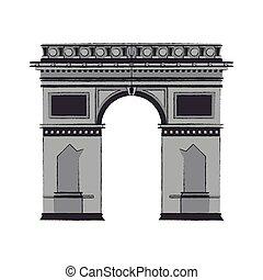 triomphe, arco, icono