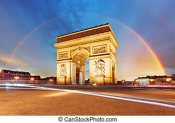 triomphe, de, 弧, パリ
