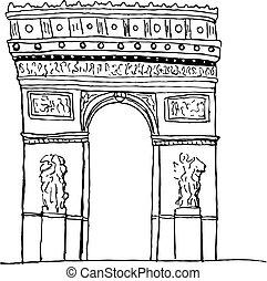 triomphe, de, arco