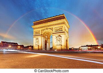 triomphe, de, arco, paris