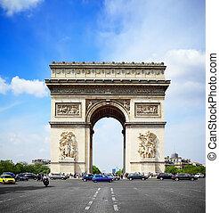 triomphe, paris, de, arco