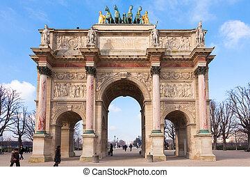 triomphe, paris, de, -, france, arc, du, carrousel