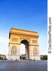 triomphe, triumph), パリ, de, 弧, (arch