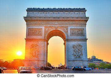 triomphe, voûte, paris, france