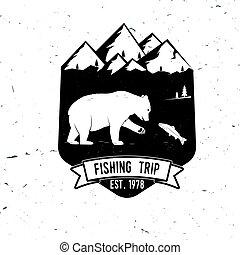 trip., μικροβιοφορέας , ψάρεμα , illustration.