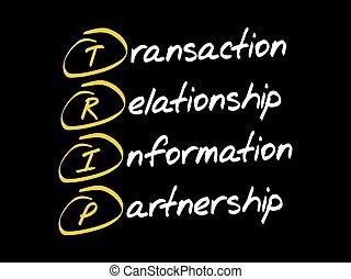 TRIP acronym business concept - TRIP - Transaction,...