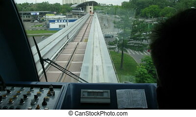 Trip by train after a monorail