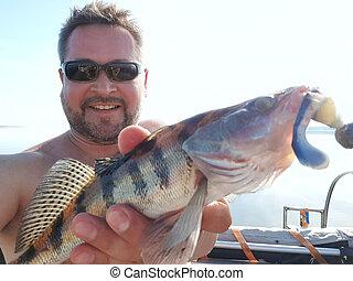 trip., fish, 男釣り, 幸せ