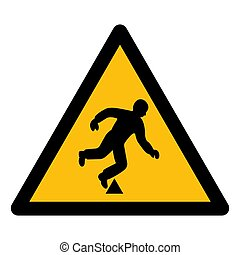 Trip Hazard Symbol Sign Isolate On White Background,Vector Illustration EPS.10