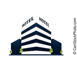 trip., host, pohybovat se, hotel, house., stavení.