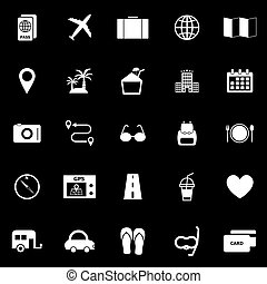 Trip icons on black background