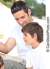 trip., otec, rybaření, syn