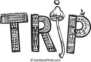 Trip psychedelic. Art concept. Element for design