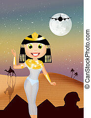 Trip to Egypt - illustration of trip to Egypt