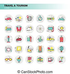 Trip Travel Tourism Icon Set Holiday Vacation