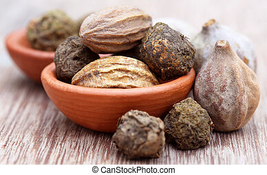 Triphala, a combination of ayurvedic fruits, of Indian...
