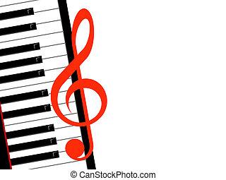 tripla, zongora, hangjegykulcs