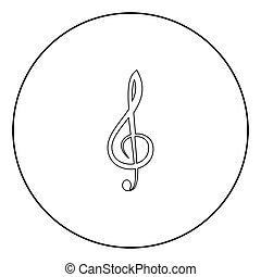triple, couleur, milieu noir, clef, icône