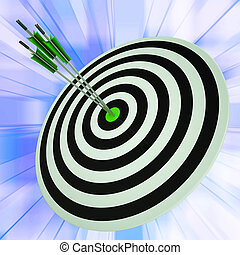 Triple Dart Shows Successful Winning Perfect Aim