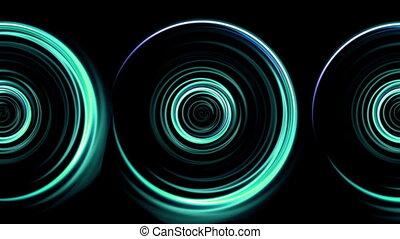 triple green rings flare pattern - beautiful ring lens flare...