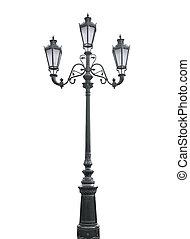 triple, lamppost