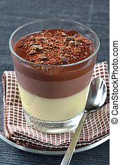 triple, mousse, chocolate