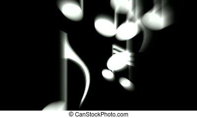 triple, notes, clef., musique