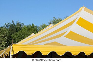 triple peak striped tent top