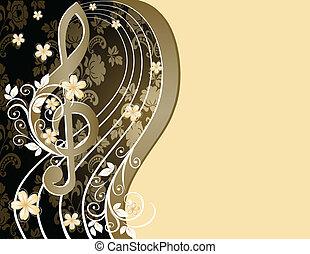 triplo, c, fundo, musical