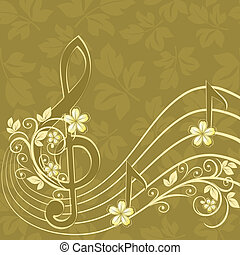 triplo, c, musical, fundo