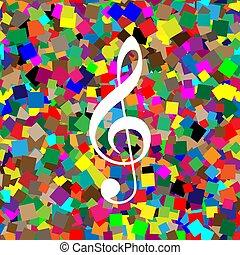 triplo, clef., g-clef., segno., musica, vector., violino, bianco, chiave, icona