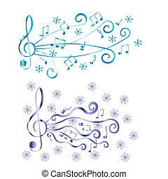 triplo, ilustração, vetorial, clef, seu, design.
